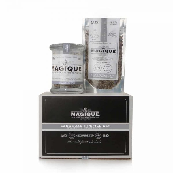Salt & Pepper Blend - Large Jar with Refill Set