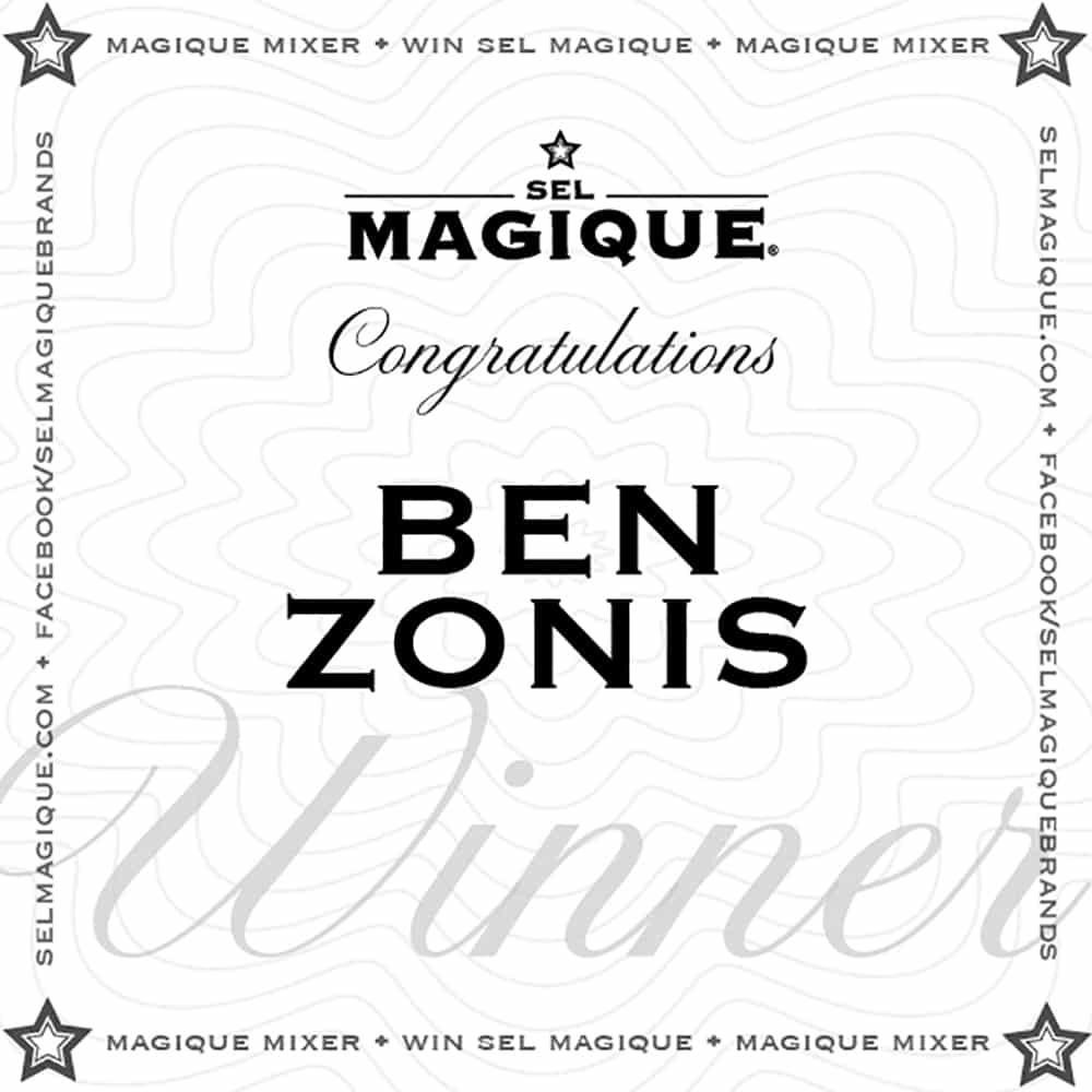 Magique Mixer Winner Ben Zonis