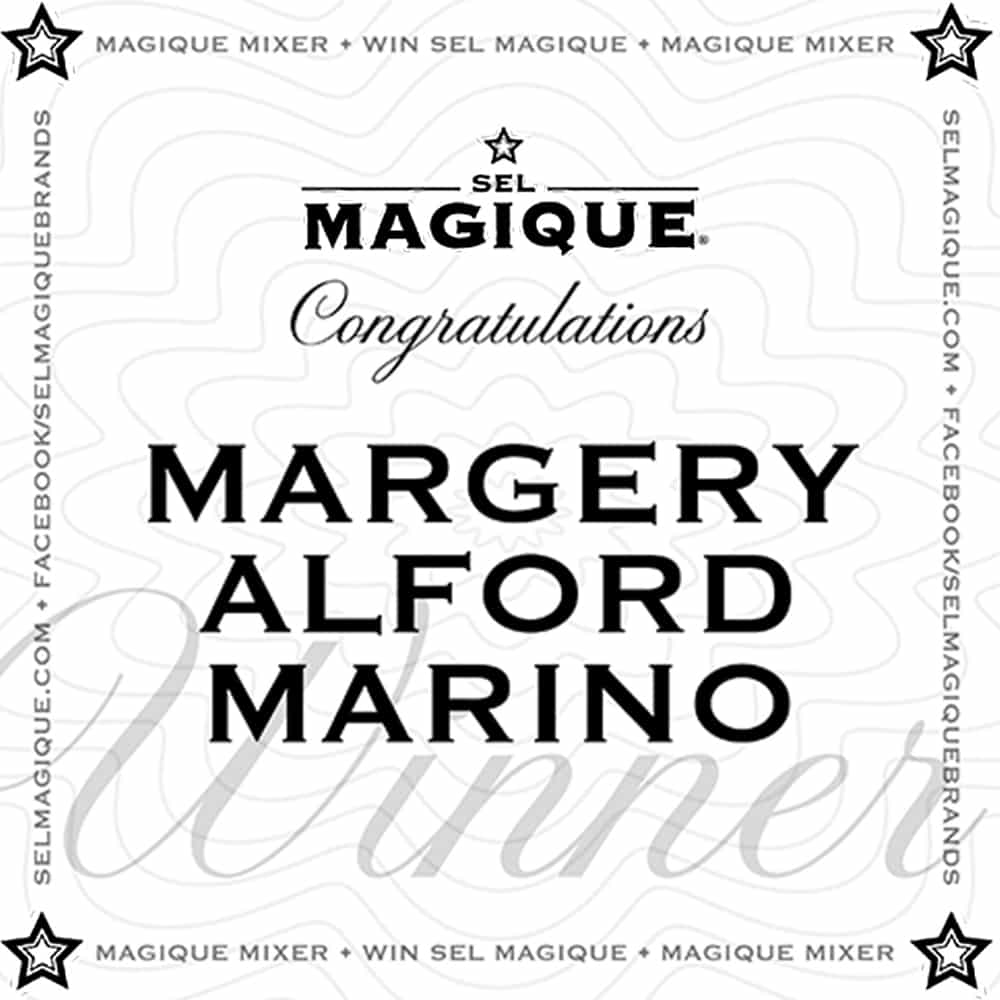 Magique Mixer Winner Margery Alford Marino