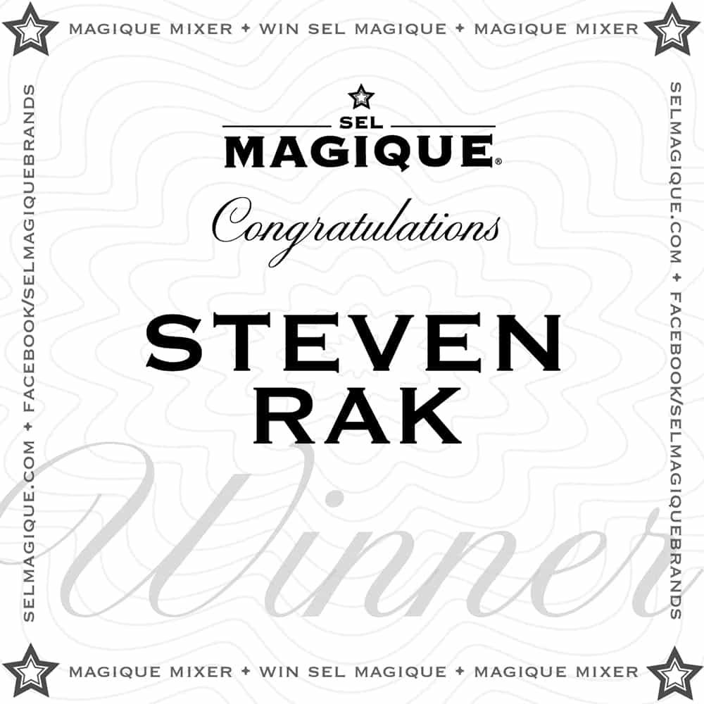 Magique Mixer Winner Steven Rak